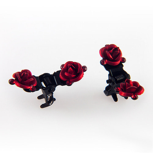 娃娃饰品 ROSE CLAWCLIP PIN SET Red