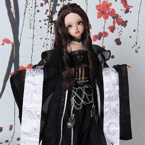 娃娃衣服 KDF Girl Han fu Set Black