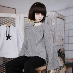 娃娃衣服 SDF65 Wide Sleeve Gray