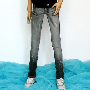 娃娃衣服 SDF POCKET POINT SKINNY JEAN Gray For Senior Delf