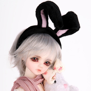 娃娃饰品 RABBIT HAIR BAND For All Black