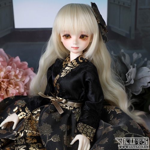 娃娃衣服 KDF Hanbok set Black Gold
