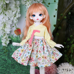娃娃衣服 HDF Candy Flower Hanbok set Lemon
