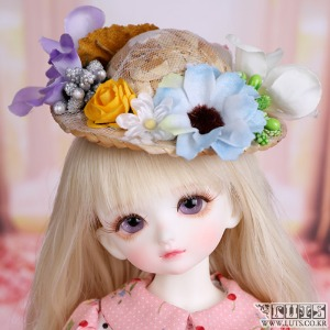 娃娃饰品 HDF Straw hat Flower