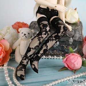 娃娃衣服 KDF Lace Stocking Black