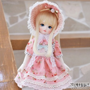娃娃衣服 HDF Pink bonnet set