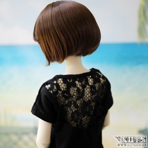 娃娃衣服 SDF Stingray back lace sleeve T shirt Black
