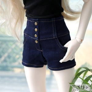 娃娃衣服 SDF high waist hot Pants Denim