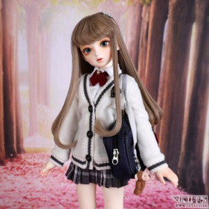 娃娃衣服 KDF NINE School Girl set Ivory