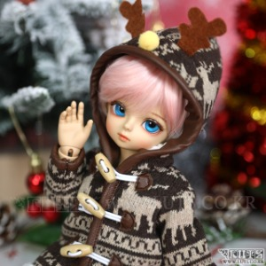 娃娃衣服 HDF Nordic Rudolph Coat Brown