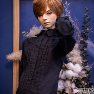 娃娃衣服 SSDF Pintuck Shirt Black