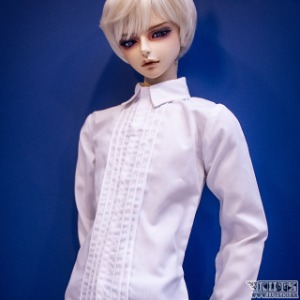 娃娃衣服 SSDF Pintuck Shirt White